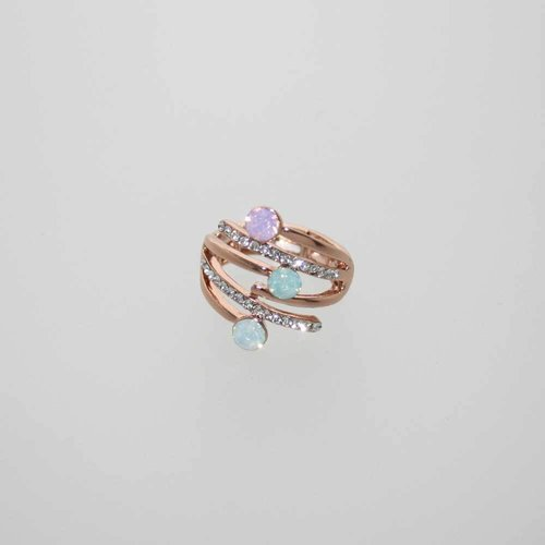 Ring in rosegold mit Swarowski-Elements